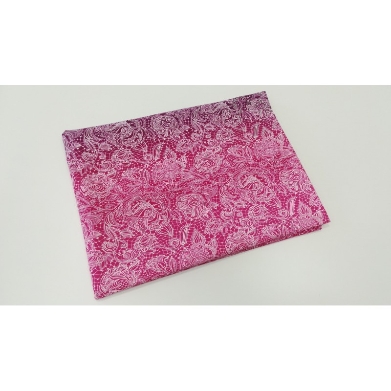 Pink-Bordo Lace in gradient - sommersweat