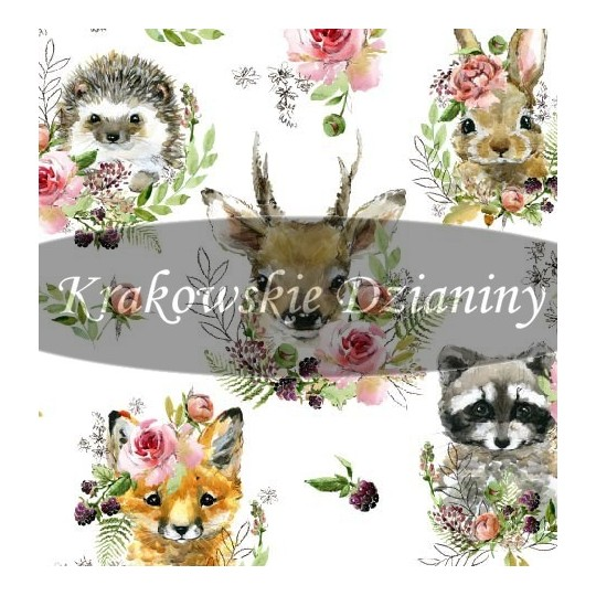 Woodland animals with flower - sommersweat